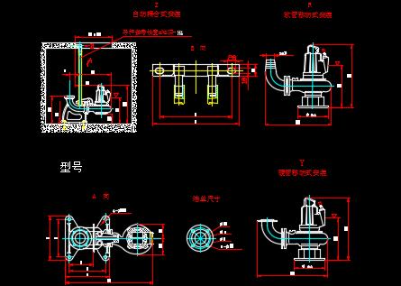 水泵样式图块
