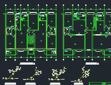 某七层住宅楼给排水,消防系统设计图
