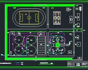 某污水厂处理系统平面布置图