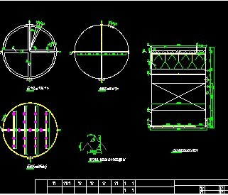 uasb结构图包括进水管布置图及三相分离器图