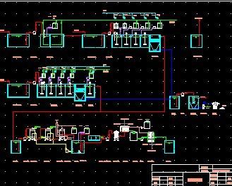 电路板废水处理工程工艺流程图免费下载 - 环保图纸