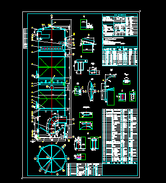 煤气洗涤塔设计图纸