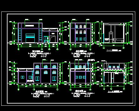 垃圾中转站建筑施工图