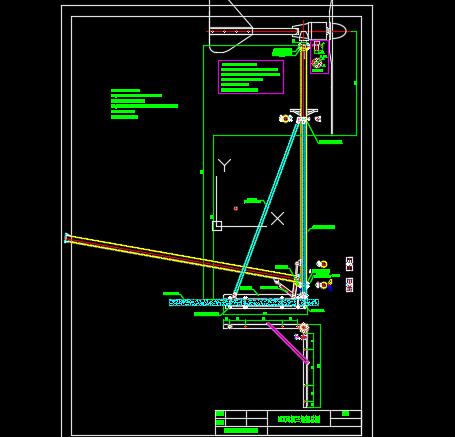 3kw风力发电机三角支架施工图纸