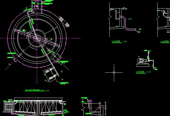 初沉池机管详图