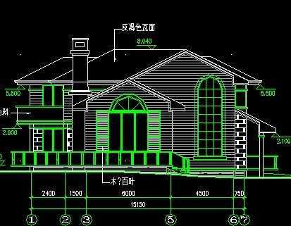欧式复式楼设计施工图图片