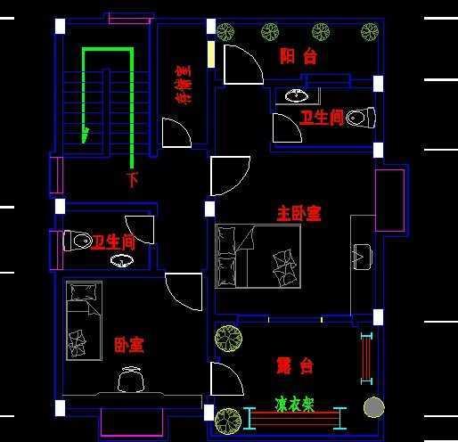 农村住宅两层简式房屋图纸免费下载