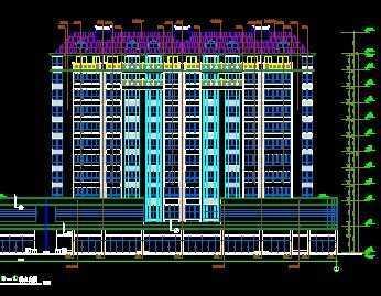 多层住宅楼建筑施工图免费下载 建筑户型平面图