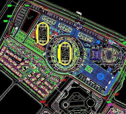 商业住宅总平面设计图