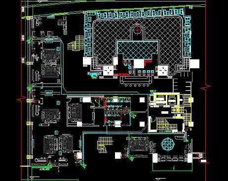 ktv电路施工图免费下载 - 电气图纸 - 土木工程网图片