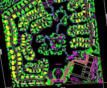 居住小区绿化平面图免费下载 园林绿化及施工