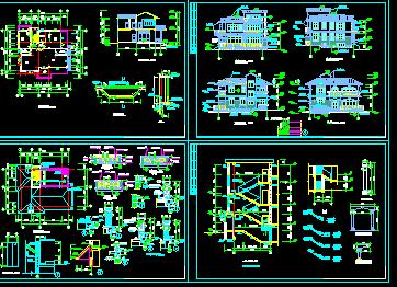 别墅建筑设计图免费下载