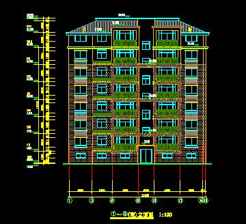 七层清单住宅楼毕业设计(含社区,工程量图纸、文化馆v清单图纸框架图片