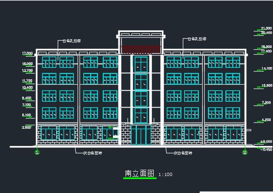 3156平米五层框架结构办公楼毕业设计