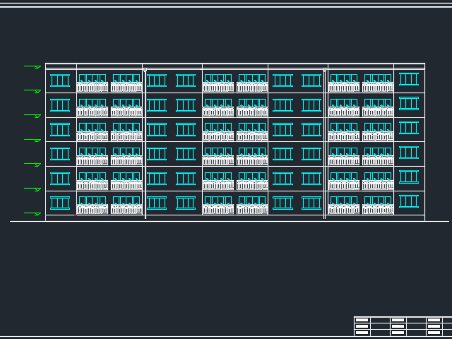 六层砖混结构住宅楼毕业设计