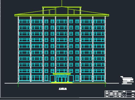 十层框剪结构办公楼建筑毕业设计