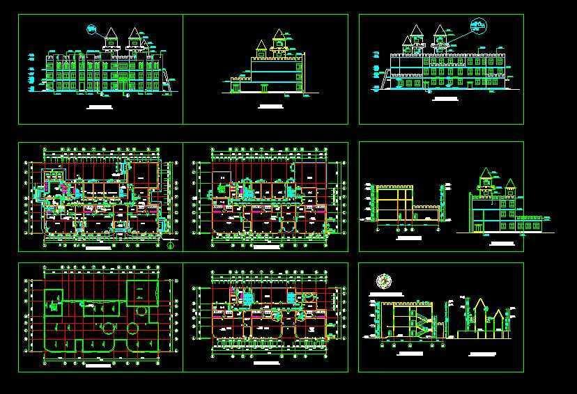 幼儿园设计建筑图免费下载