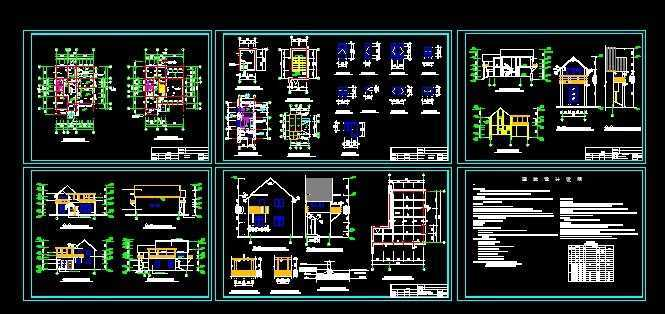 别墅设计建筑图免费下载