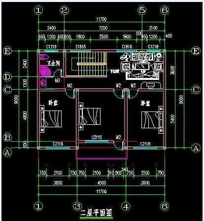 2层农村别墅设计图纸(面积约100平方)