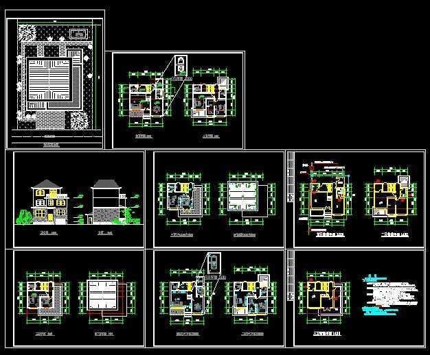 别墅别墅归档图免费下载-图纸软件-土木工程建筑电子版图纸小康图片