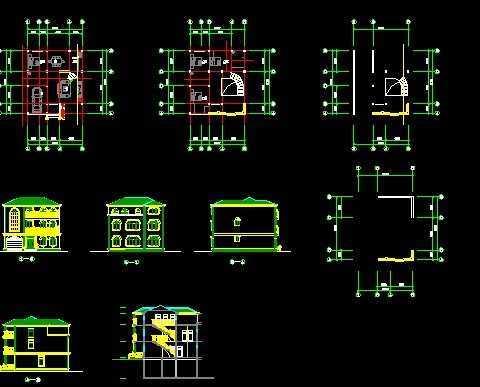 欧式别墅建筑图纸