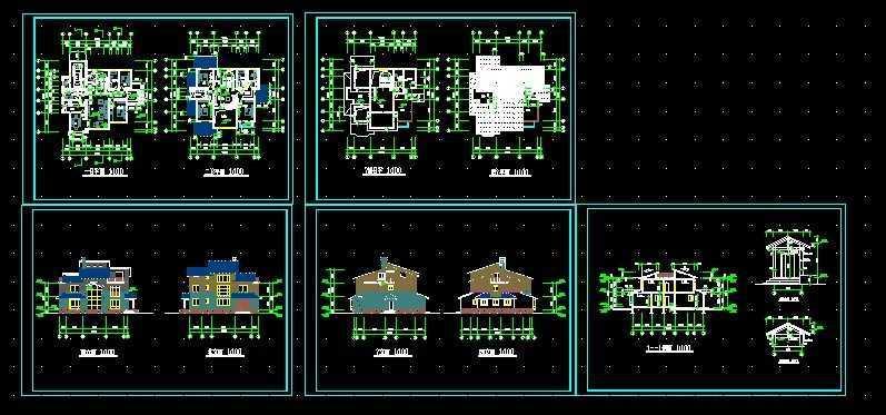 别墅设计建筑图纸免费下载