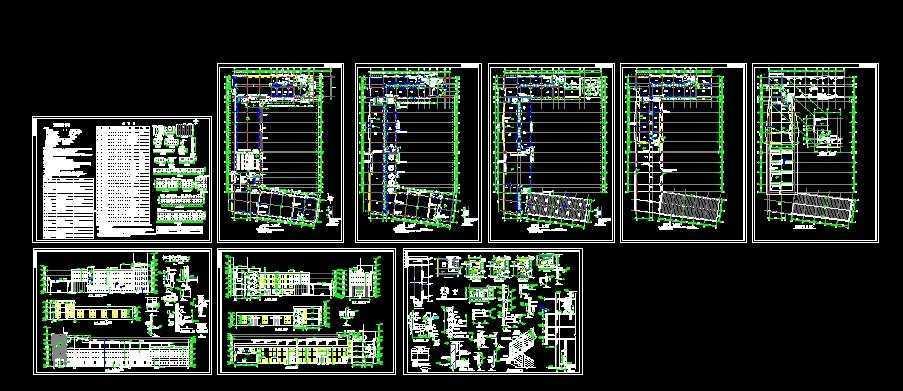 综合楼建筑施工图免费下载