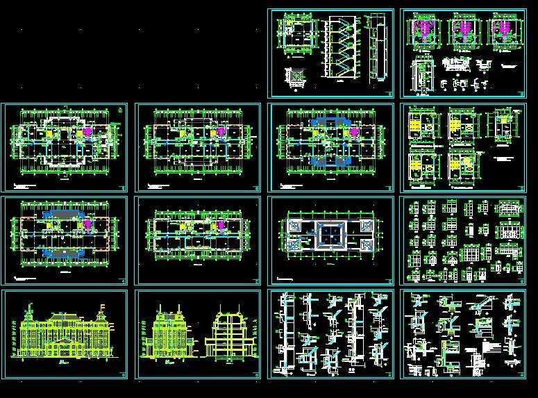 欧式办公楼全套施工图