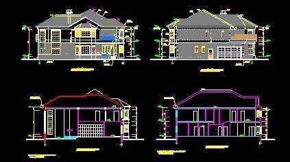钢结构别墅建筑免费下载