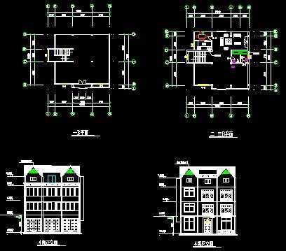 私家别墅建筑施工设计图免费下载