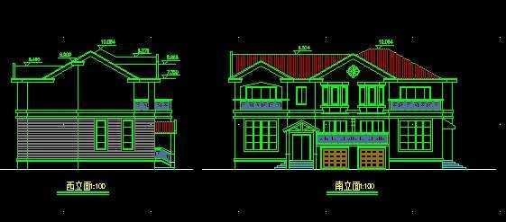 别墅平面图立面图