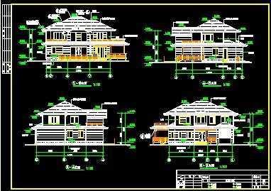 A3型别墅建筑施工图