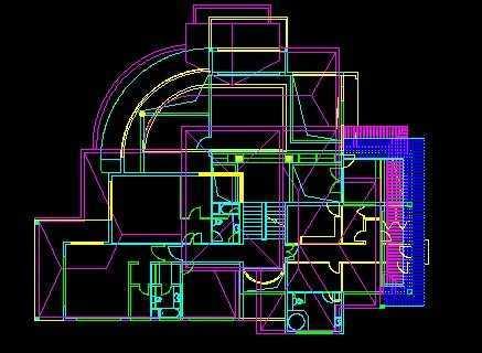 别墅平面设计图带效果图和3dmax模型