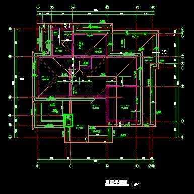 二层别墅设计建筑图免费下载