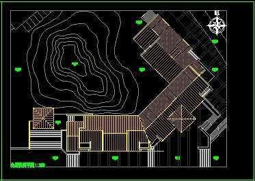 三层别墅区会所平面图免费下载 别墅图纸