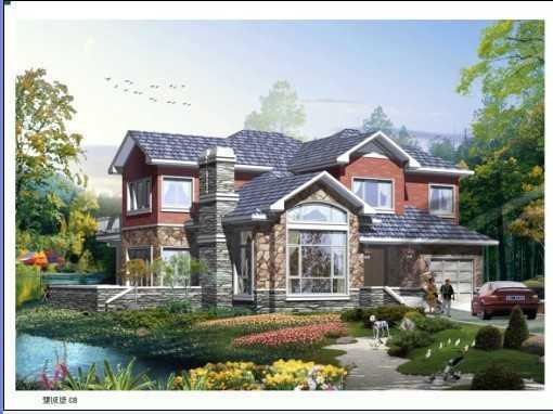 别墅设计图带效果图免费下载 - 别墅图纸 - 土木工程网