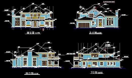 别墅平立面方案图免费下载