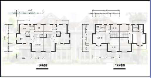二层别墅平面设计图图片