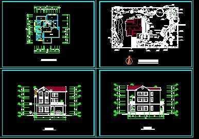 欧式风格私人三层别墅设计方案