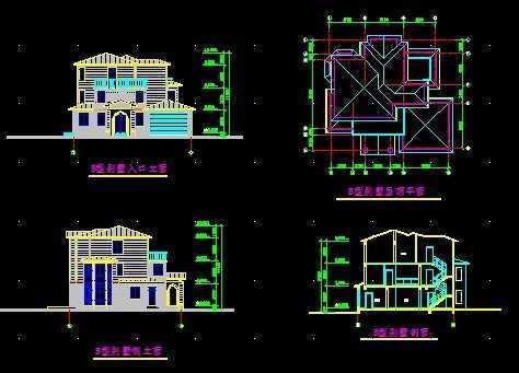 abc型别墅设计图纸免费下载