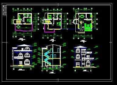 私人住宅施工图免费下载
