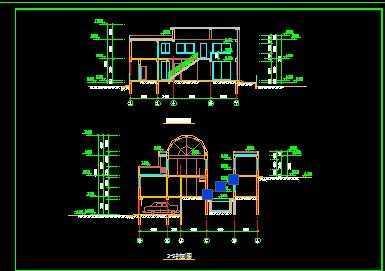 室内带游泳池的别墅方案图