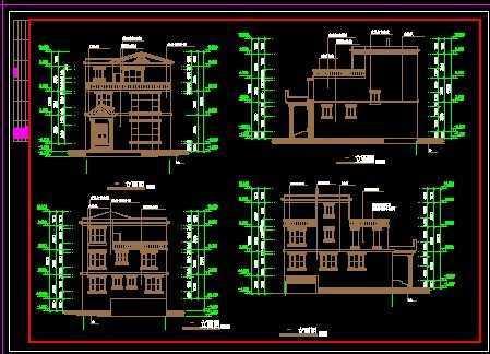 现代豪华小别墅建筑设计方案su