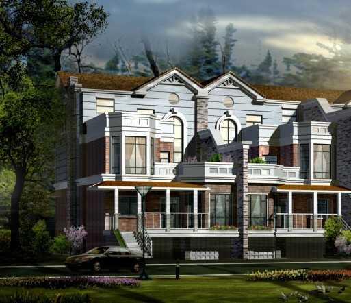 别墅施工图纸,模型,效果图