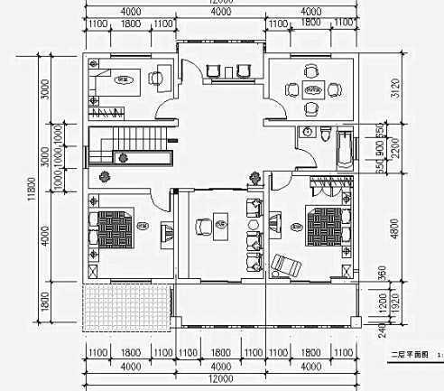 11x13平米造价农村一厅平面二房六合无绝对二层自建房六合无绝对楼房图片