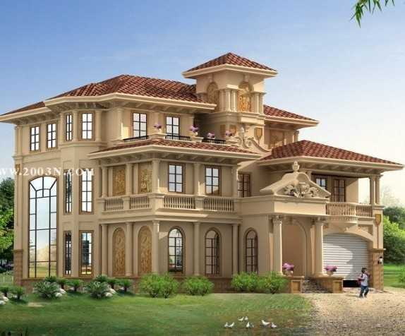 三层豪华别墅效果图图片分享