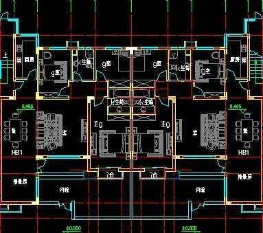 退台式洋房建筑图纸