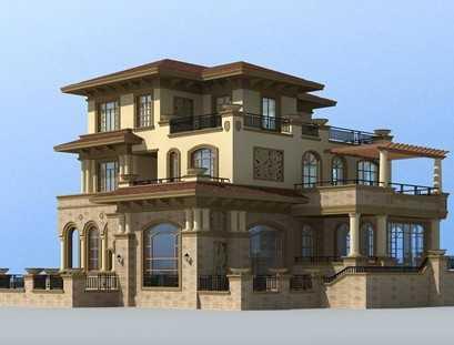 别墅欧式尺寸设计施工图纸(带效果图的)免费下比例中的图纸多套图片