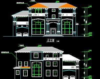 别墅施工图包括平面图