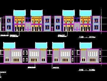 中式联排别墅施工图(带效果图)